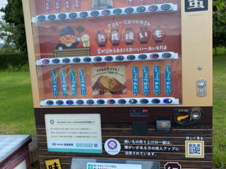 自動販売機でホクホク焼き芋♪